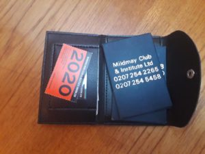 Club yearly pass card